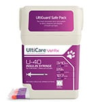 "UltiCare UltiGuard U-40 Pet Syringes 29G 3/10cc 1/2"" - Half Unit 100ct thumbnail"