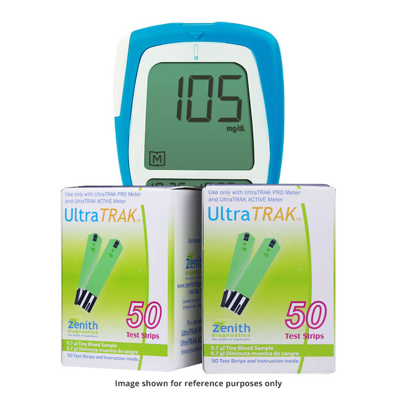 200 UltraTRAK Test Strips w/FREE UltraTRAK PRO Meter Kit