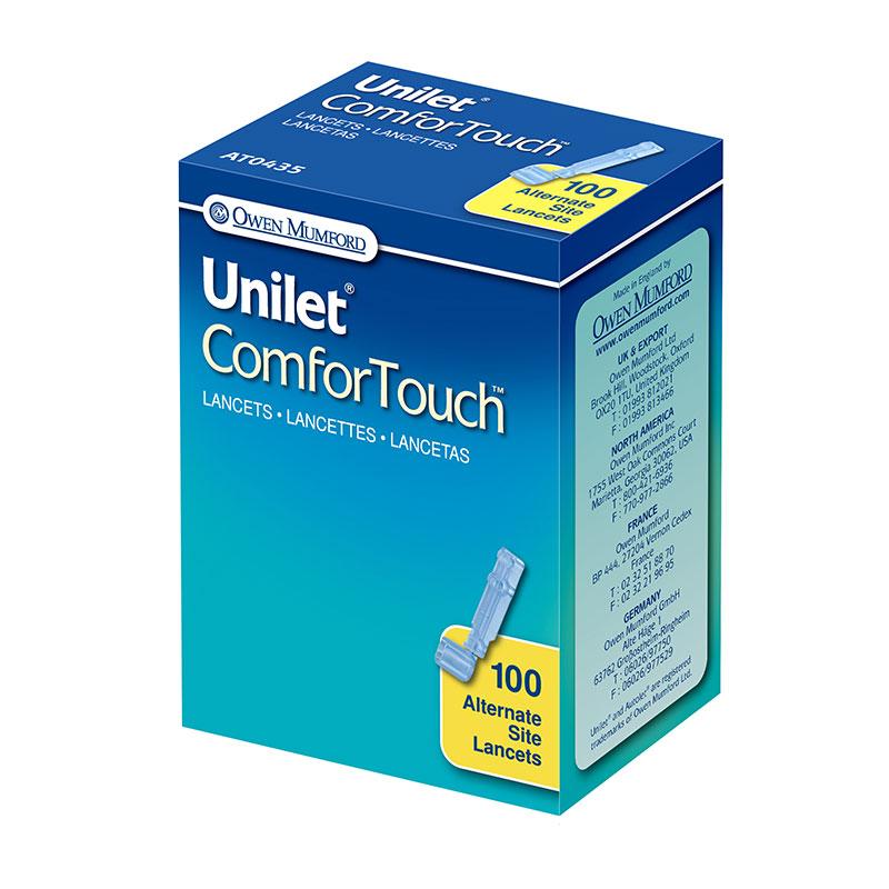 Owen Mumford Unilet ComforTouch Alternate Site Lancets 26G 100/bx