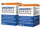 UniStrip 1 24850 Blood Glucose Test Strips 100/bx