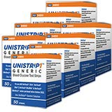 UniStrip 1 24850 Blood Glucose Test Strips 50/bx Case of 24