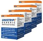 UniStrip 1 24850 Blood Glucose Test Strips 200/bx