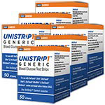 UniStrip 1 24850 Blood Glucose Test Strips 50/bx Case of 6