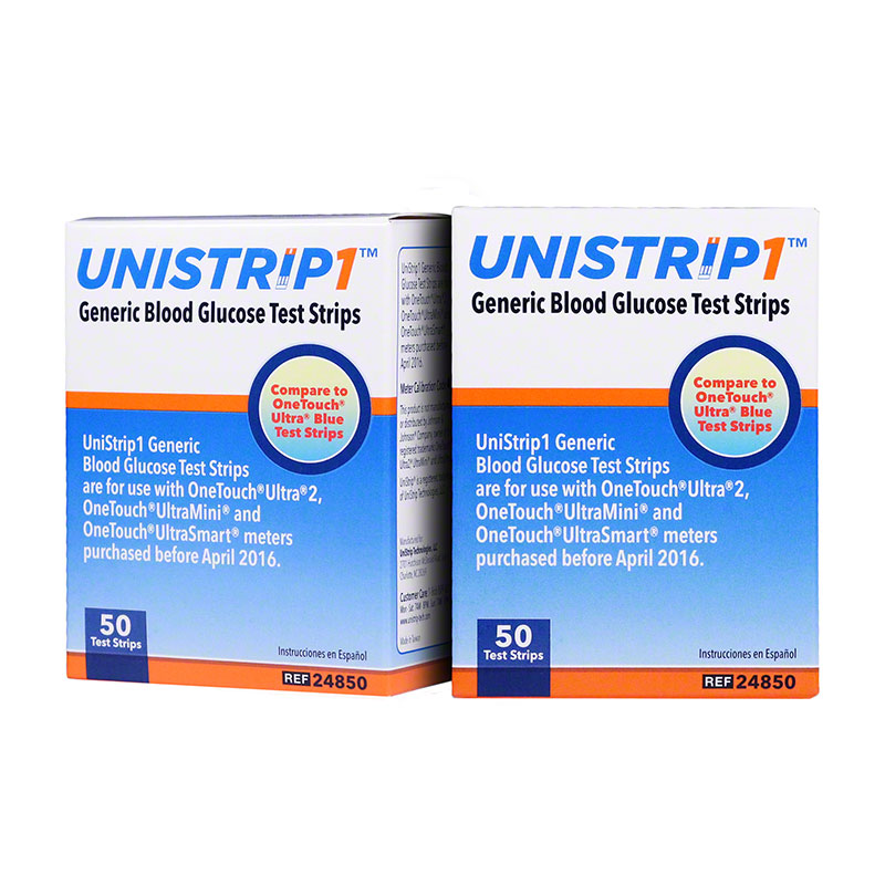UniStrip 1 24850 Blood Glucose Test Strips 200/bx