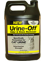 Urine Off Odor and Stain Remover for Cats - 1 Gallon