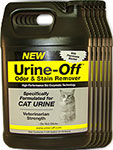 Urine Off Odor and Stain Remover for Cats - 1 Gallon Pack of 6