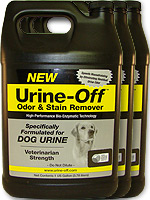 Urine Off Dog & Odor Remover - 1 Gallon Pack of 3