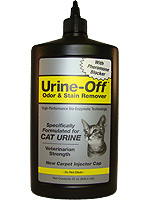 Urine Off Odor & Stain Remover w/ Injector Cap for Cats 32oz
