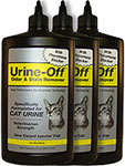 Urine Off Odor & Stain Remover w/ Injector Cap for Cats 32oz Pack of 3