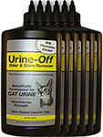 Urine Off Odor & Stain Remover w/ Injector Cap for Cats 32oz Pack of 6