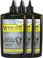 Urine Off Odor & Stain Remover w/ Injector Cap for Dogs 32oz Pack of 3