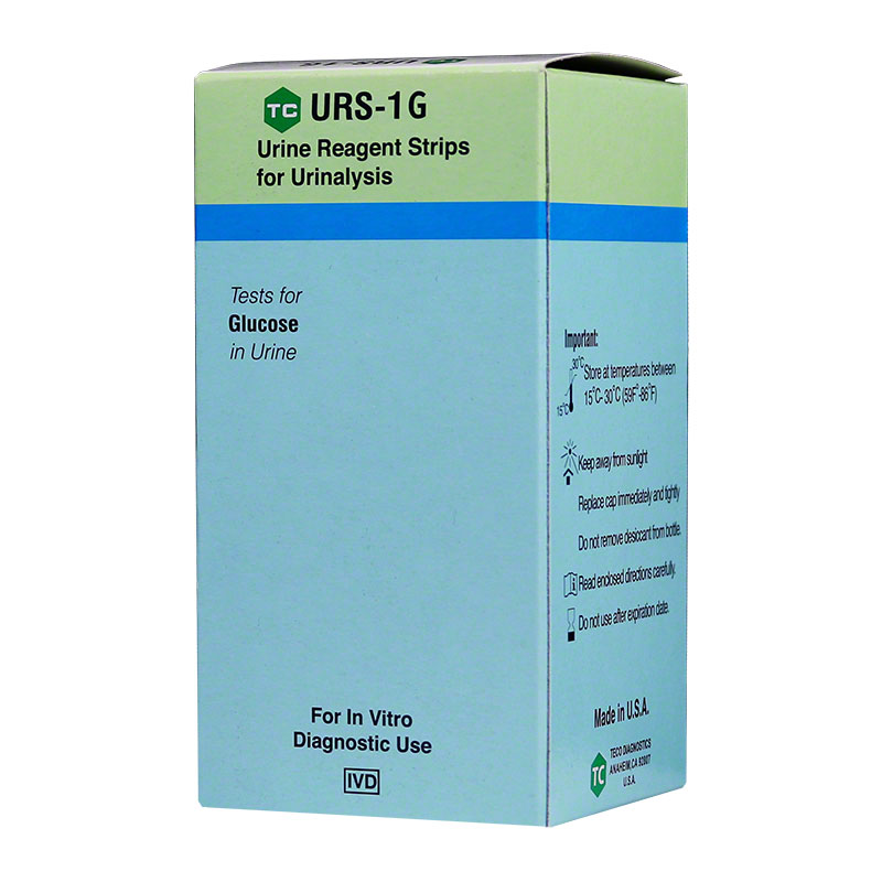 Teco URS-1G Glucose Test Strips 100/bx Case of 24