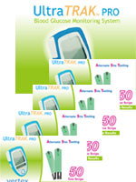 200 UltraTRAK Test Strips w/FREE UltraTRAK PRO Meter Kit