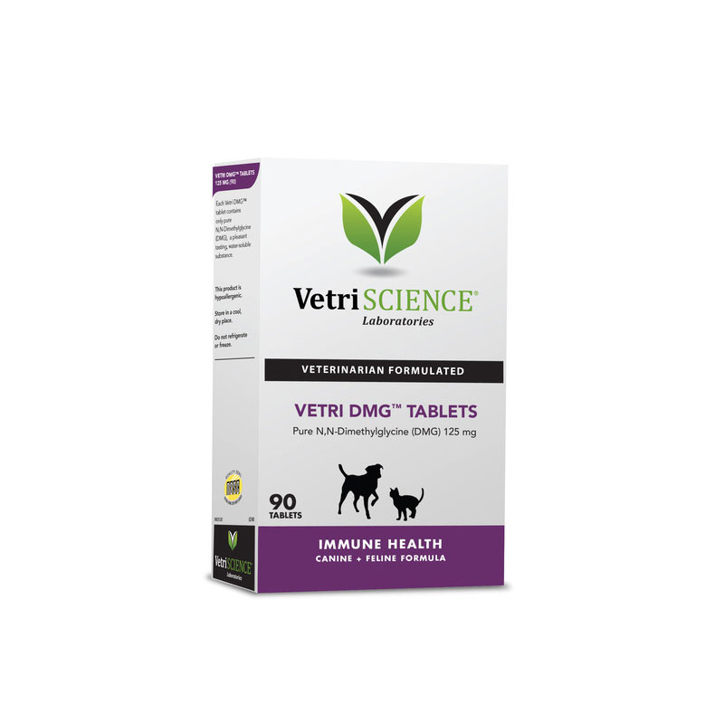 VetriScience Vetri DMG Tablets For Cats & Dogs 90ct Pack of 3