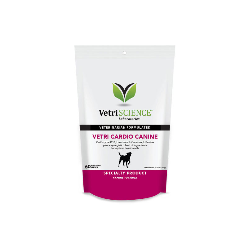VetriScience Vetri Cardio Bite Sized Chews For Dogs 60ct Pack of 3