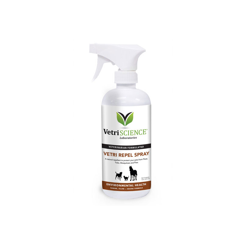 VetriScience Vetri Repel Spray For Cats Dogs Horses 16oz Pack of 3