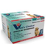 Vet's Choice U-100 Pet Insulin Syringes 31G 1/2cc 5/16