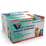 Vet's Choice U-100 Pet Insulin Syringes 31G 1/2cc 5/16