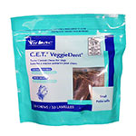 Virbac CET VeggieDent Tartar Control Chews For Dogs Small - 30/bg
