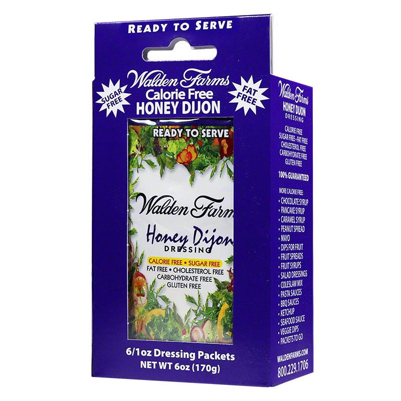 Walden Farms Honey Dijon Salad Dressing Packet 1 oz 6/pk Case of 6