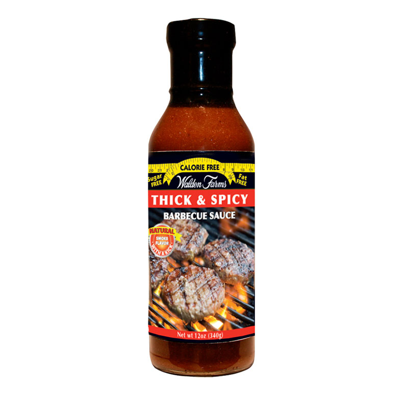 Walden Farms Thick'n Spicy Barbeque Sauce 12oz 6-Pack