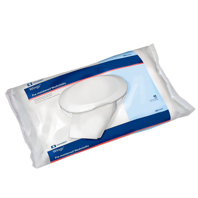Kendall Wings Adult Wet Wipes 8.7x11.8 48/bx